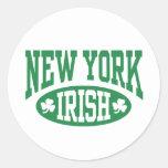New York Irish Classic Round Sticker