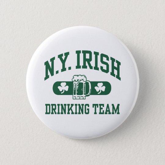 New York Irish Drinking Team Button