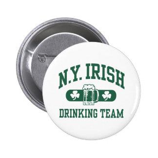 New York Irish Drinking Team 2 Inch Round Button