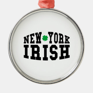 New York Irish Metal Ornament