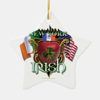 New York Irish Pride Ceramic Ornament