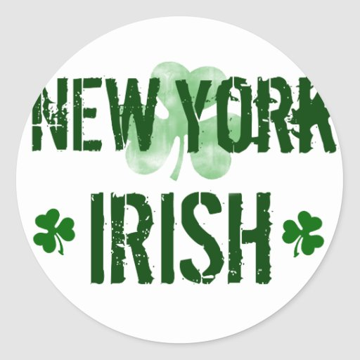 New York Irish t-shirts and gifts. Classic Round Sticker