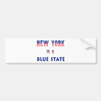 New York is a Blue State Bumper Sticker