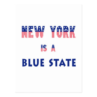 New York is a Blue State Postcard