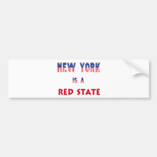 New York is a Red State Bumper Sticker