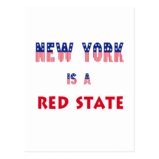 New York is a Red State Postcard