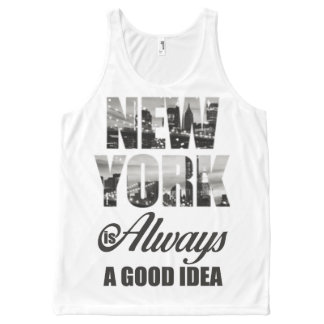 New York is Always a Good Idea All-Over Print Tank Top