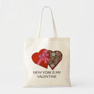 New York Is My Valentine Box of Chocolates NYC Tote Bag
