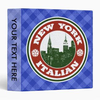 New York Italian American Binder