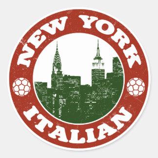 New York Italian American Classic Round Sticker