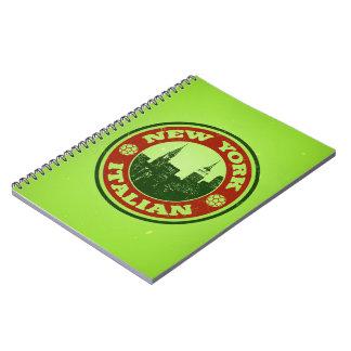 New York Italian American Spiral Note Book