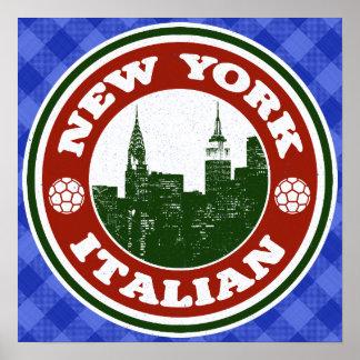 New York Italian American Poster Print