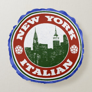 New York Italian American Round Cushion