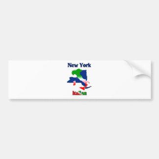 New York Italian Bumper Sticker