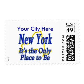 New York  It's the Only Place to Be Postage Stamp