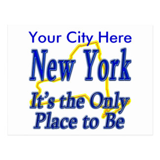 New York  It's the Only Place to Be Postcard
