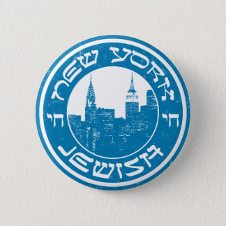 New York Jewish Pinback Button