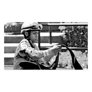 "New York Jockey ""Manuel Franco"" Double-Sided Standard Business Cards (Pack Of 100)"