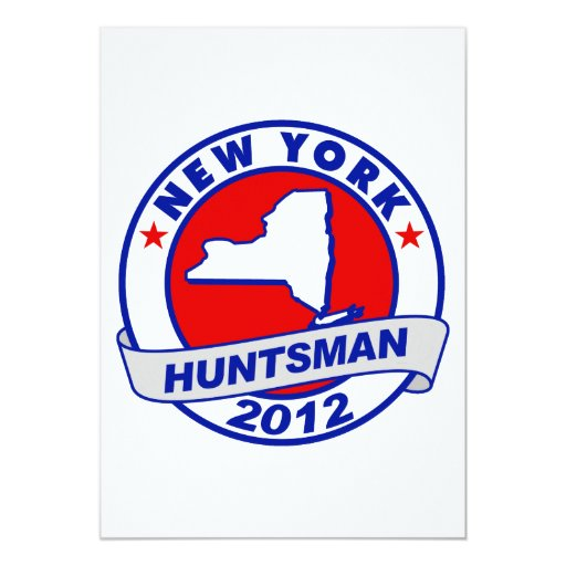 New York Jon Huntsman Personalized Announcements