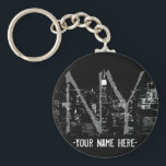 "New York Key Chain Customized New York Souvenirs<br><div class=""desc"">New York Souvenir Key Chain New York Landmark Key Chains &amp;  NY Gifts for Men,  Women,  Kids,  Home &amp; Office New York Gifts featuring the New York  Skyline Souvenirs Design by Artist / Designer Kim Hunter. See www.kimhunter.ca for more Souvenirs &amp; Gifts Online.</div>"