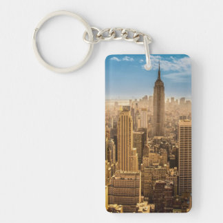 New York Rectangular Acrylic Keychain