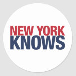 New York Knows Classic Round Sticker