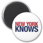 New York Knows Fridge Magnet