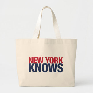 New York Knows Large Tote Bag