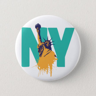 New York Lady Liberty Button