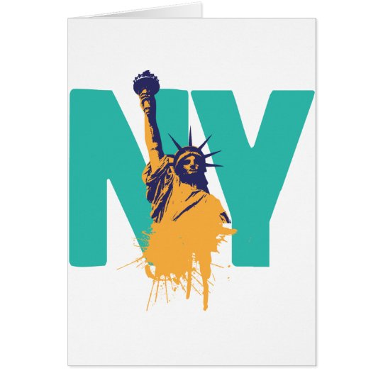 New York Lady Liberty Card