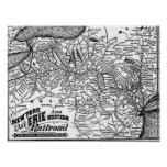 New York Lake Erie and Western Railroad 1884 Map Poster