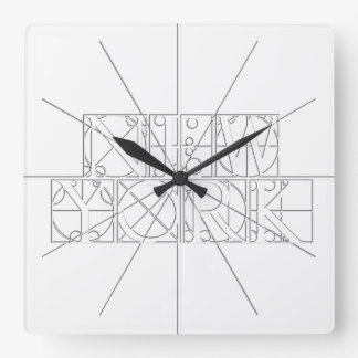 New York Large Relief Sculpture Style Wall Clock