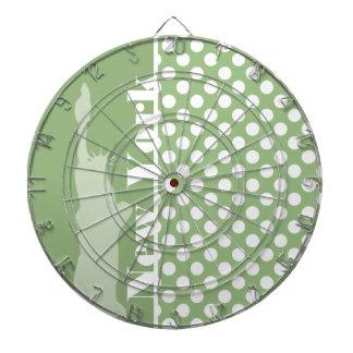 New York; Laurel Green Polka Dots Dartboards