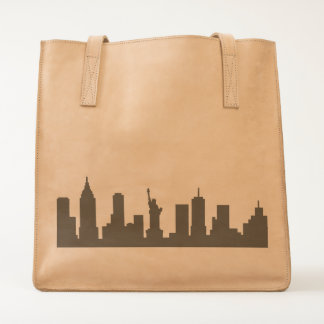 """""""New York"""" Leather Tote"""