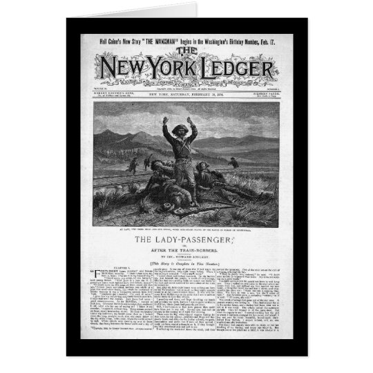 New York Ledger 1894 Card