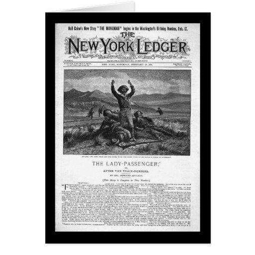 New York Ledger 1894 Greeting Card