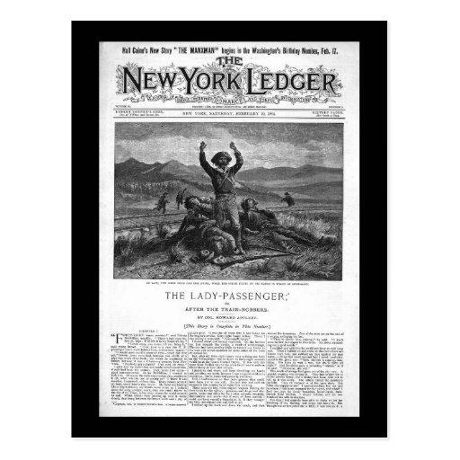 New York Ledger 1894 Postcard