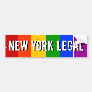 NEW YORK LEGAL GAY MARRIAGE CAR BUMPER STICKER