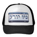 New York License Plate in Hebrew Trucker Hats