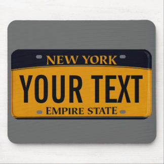 New York license plate mouse pad