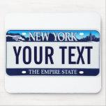 New York license plate mousepad