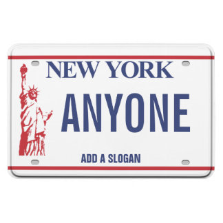 New York License Plate (personalized) Rectangular Magnet