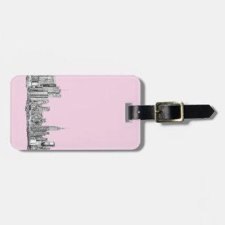 New York light pink Bag Tag
