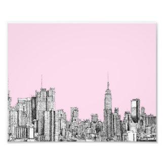 New York light pink Photo Art