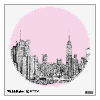 New York light pink Wall Sticker