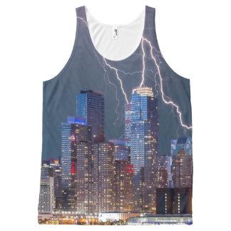New York Lightning Storm All-Over-Print Tank Top