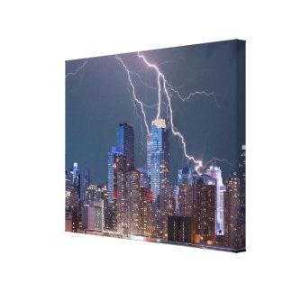 New York Lightning Storm Canvas Print
