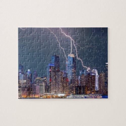 New York Lightning Storm Jigsaw Puzzle