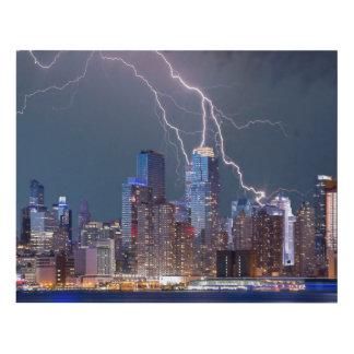 New York Lightning Storm Panel Wall Art