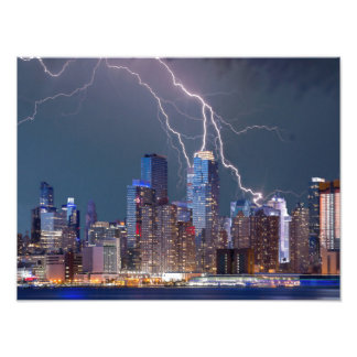 New York Lightning Storm Photo Print